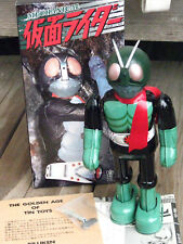 "RARE ~ BILLIKEN 1998 KAMEN RIDER ""Masked Rider"" Wind up 9"" Tin Robot JAPAN ~ NIB"