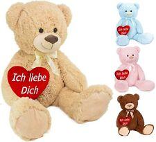BRUBAKER XXL Teddybär 100 cm + Ich liebe dich Plüsch Herz Kuscheltier Plüschtier