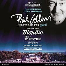 "PHIL COLLINS/BLONDIE ""NOT DEAD YET LIVE"" 2017 LONDON CONCERT TOUR POSTER-Genesis"