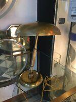 LAMPADA DA TAVOLO 50s ITALIAN DESIGN MINISTERIALE OTTONE BRASS TABLE LAMP