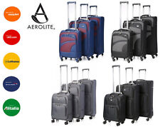Aerolite Lightweight 4 Wheel Spinner Suitcase Luggage Sets Small Medium Large