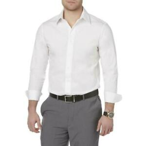 Structure Men's Slim & Stretch Fit Dress Shirt Core White NWT Polybaged MSRP$ 42