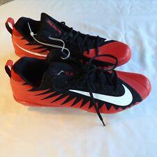 Men's Nike Alpha Menace Red/Black Football Cleats Size 14