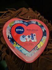 Nivea Fabulous Lip Moments 4 - Pieces Women Gift Tin Set Lip Balm Set