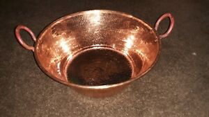 Mexican Pure Copper Pot for Carnitas Cazo. (14x7 in)