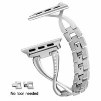 Stylish Stainless Steel Removable Link Bracelet for Apple Watch Series 4/3/2/1