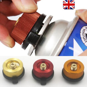 1X Camping Stove Metal Butane Gas Adapter Convert Fuel Canister