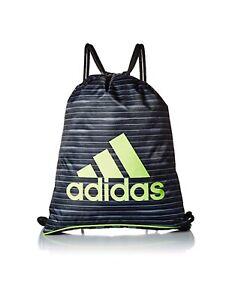 NWT ADIDAS LOGO Burst II Sackpack Black/Onyx/Neon Gym Yoga Unisex Backpack