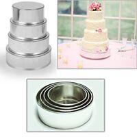 "4 TIER HEAVY DUTY ROUND WEDDING CAKE TINS 6"" 8"" 10"" 12"" - 3"" DEEP"