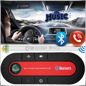 Bluetooth Handsfree Wireless Speaker Car Kit For Mobile Phone Iphone New Handset