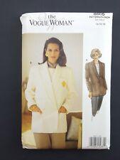 VOGUE Woman Sewing Pattern 8605 Misses Jacket size 14 16 18 NEW UNCUT VTG