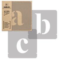 Pochoirs Lettres et Chiffres / 50mm / Times Roman Minuscule / Alphabet Nombres