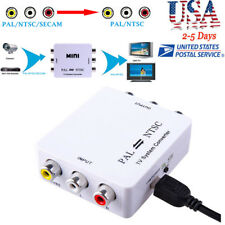 PAL/NTSC/SECAM to PAL/NTSC MINI Bi-directional TV System Switcher Converter Home