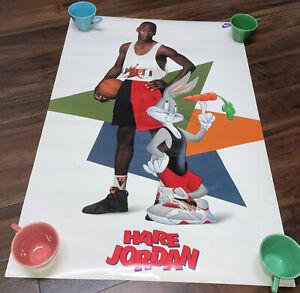 1992 vintage nike air hare jordan poster art tank top bugs bunny Shoes