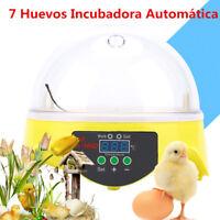 7 Huevos 20W Mini Digital Incubadora Automática Hatcher Fan Control Temperatura