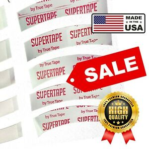 Supertape Double Sided Tape Lace Wig Toupee Hair System 'Least Curved' 30 Strips