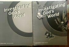A Beka Investigating God's World Test Key+ Quiz Key 2 Book Set - VERY GOOD