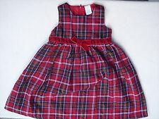 Girls Sleeveless Holiday Dress Sz 3T Red Tartan Plaid Xmas Picture WonderKids