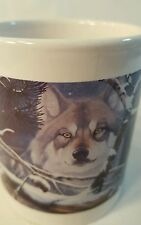 "WOLF COFFEE MUG NATIONAL WILDLIFE FED ""EYES IN THE MIST"" DANIEL PIERCE  1125"