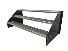 4 stufige freistehende Standtreppe Stahltreppe Breite 90cm Höhe 84cm Anthrazit