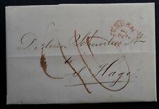 RARE 1843 Netherlands Folded Letter sent from Amsterdam to Gravenhage