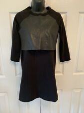 Cos Black dress with front leather panel size XS