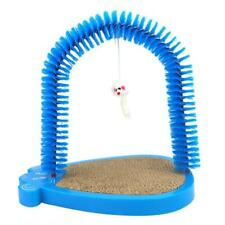 Pet Scratcher And Grooming Arch For Cat Pet Playing Scratching Blue