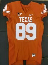 Nike Game Worn Authentic Texas Longhorns UT Football Jersey Orange Home #89