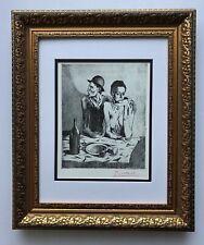 PABLO PICASSO ORIGINAL 1955 SIGNED SUPERB PRINT MATTED 11 X 14 + LIST $895