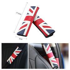 2Pcs Union Jack Car Safety Seat Belt Cover Shoulder Cushion Pad For MINI COOPER