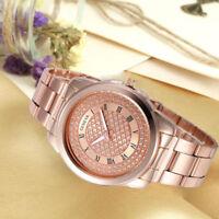 Fashion Womens Watches Alloy Band Sport Quartz Analog Wrist Watch Waterproof