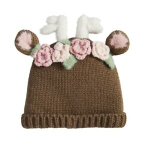 Mud Pie H0 Girl Holiday Kids Shoppe Reindeer Knitted Hat 16010132 - Choose Size