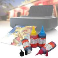 Bulk Refill Ink Bottle For Hp Inkjet Printer, 4 Colors X5Q9