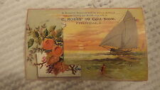 Antique Victorian Trade Card C.ROBBS' 99 CENT STORE, WELLSVILLE, OHIO