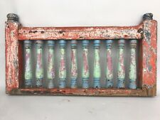VINTAGE INDIAN HAND RAIL BANNISTER SUPPORT ANTIQUE SCREEN WALL WOODEN