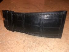 1/2 - Partial Cartier Black Leather Watch Band Strap Alligator Print