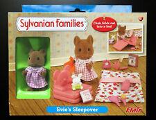 Evie's Sleepover Flair Bnib Brown Mouse Sylvanian Families Bedding Books Calico