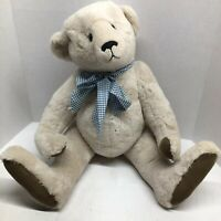 "Bainbridge Bear By Donna Hinkelman Artist 22"" Ivory Mohair Plush Christmas Gift"