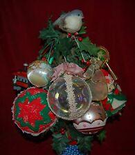 1980's Vintage Set of 9 Ornaments South Florida Estate Sale Magnificent Pieces!