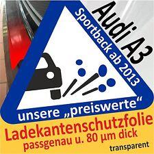 AUDI A3 Sportback PROTEZIONE PARAURTI Pellicola di vernice auto Protettiva 80