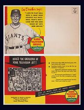 BASEBALL NEW YORK GIANTS MGR LEO DUROCHER BONGARD TV CHICAGO CIRCA 1950 6 X 9 IN