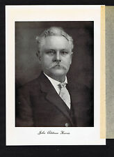 John Addison Harris - Mass -- 1917 Portrait Lithograph