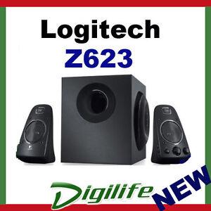 Logitech Z623 2.1 Stereo Speaker Subwoofer System 200W RMS RCA Headphone Jack