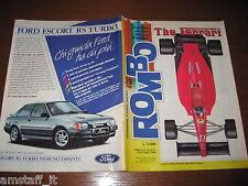 RIVISTA ROMBO 1988/29=THE FERRARI=RENAULT 19=APRILIA TUAREG WIND 350/600=