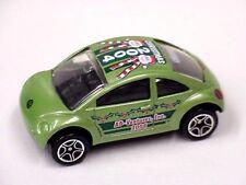 Matchbox code2 green VW Beetle Concept AD-Ventures, Inc. 2004 graphics roof/side