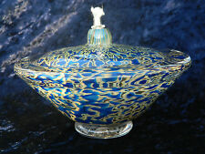 GartnerBlade Glass Large Saturn Oil Lamp   Hand-Blown Signed