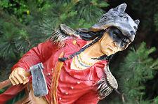 Indianer Wolf Dekofigur 75 cm groß  Hausdeko, DEKO