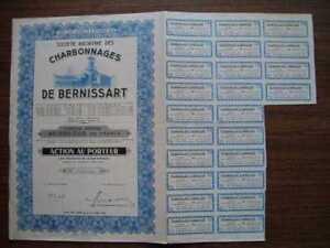 Societe Anonyme Charbonnages de Bernissart Bond 1944