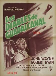 LES DIABLES DE GUADALCANAL - J.WAYNE - N.RAY -1951- RKO- ON LINEN