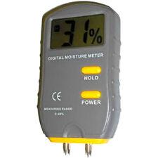 HQRP Digital Wood Moisture Meter Tester Firewood 4-Pin Tester LCD